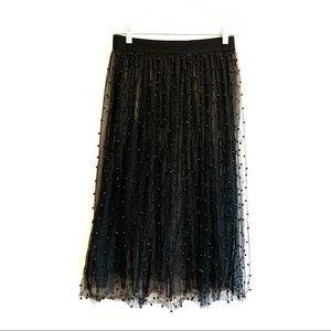 Zara Tulle Beaded Skirt Size M